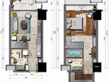海航万绿园1号_1室1厅2卫 建面49平米