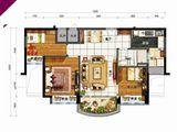 碧桂园太阳城_3室2厅1卫 建面90平米
