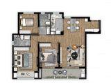 雅居乐远洋公园里_3室2厅2卫 建面110平米