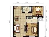 龙TOWN铂悦山_2室2厅1卫 建面90平米